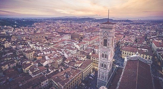 Panoramica aerea di Firenze