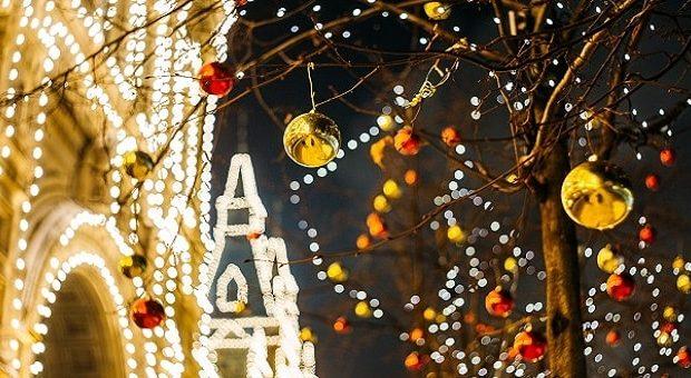 Addobbi natalizi in centro a Firenze