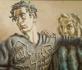 particolare di Orfeo ed Euridice di Alberto Savinio