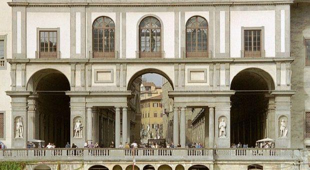 Vista sugli Uffizi di Firenze