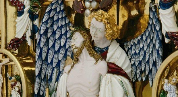 scultura di christo patiens di Jean Du Vivier