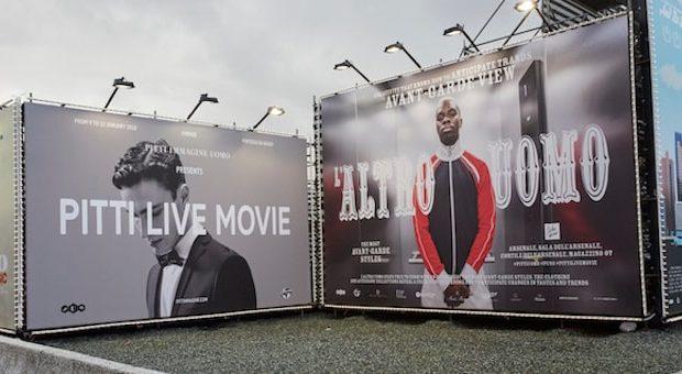 pubblicità de L'altro uomo a Pitti Immagine 2018