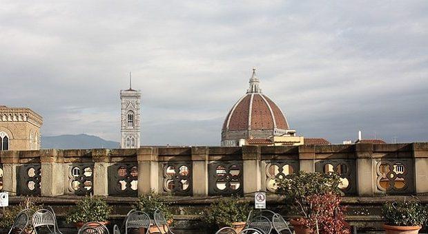 Vista sul Duomo di Firenze e Campanile di Giotto