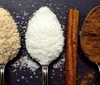 tre diversi tipi di zucchero