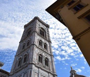 prospettiva del Campanile di Giotto a Firenze