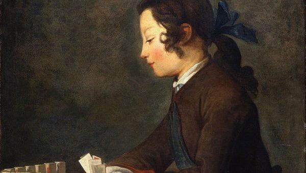 Fanciulla con il castello di carte di Chardin agli Uffizi