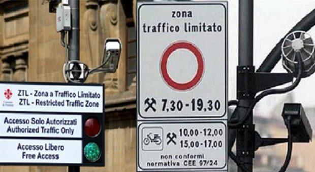cartelli a Firenze della ZTL zona traffico limitato