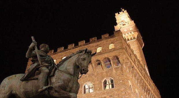 Piazza della Signoria di notte
