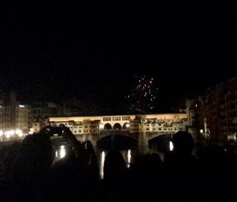 I fuochi su Ponte Vecchio