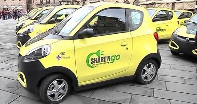 Share'n go car sharing elettrica