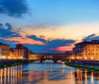 veduta su Firenze e ponte vecchio