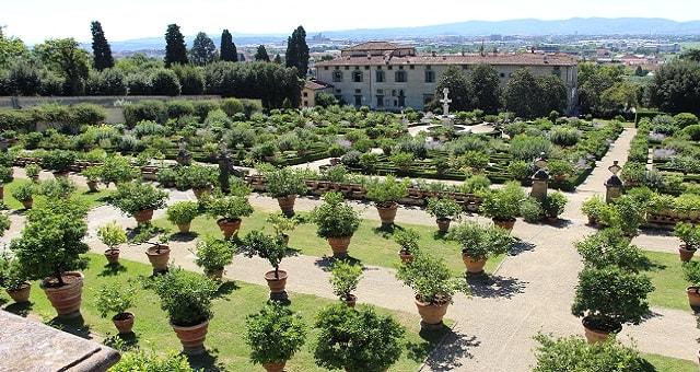 Castello, giardino della villa medicea