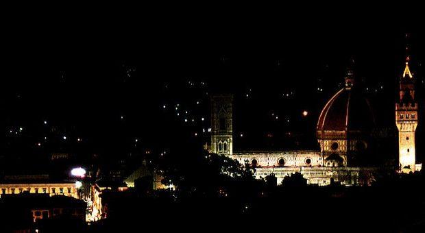 panorama Firenze notte di San Lorenzo