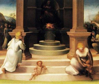 Casa Martelli: il culto di Vesta di Domenico Beccafumi