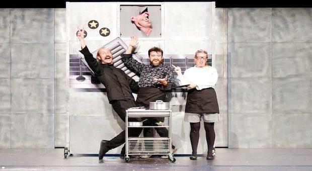 parodia della nuova mania collettiva per l'alta cucina.