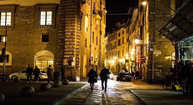 Firenze la sera in inverno