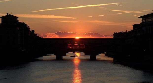 Ponte Vecchio tamonto