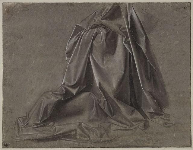 Panneggio di Leonardo da Vinci