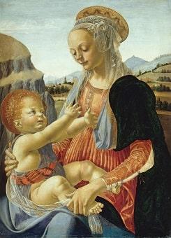 Madonna con Bambino di Verrocchio