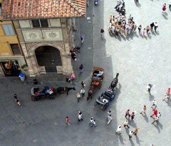 Strade vicino al Duomo di Firenze